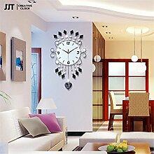 AIZIJI Clock Creative Living Zimmer Wall Clock modern Fashion simple Persönlichkeit Pendel Stille Kunst Dekorative Tisch kreativ, 20 Zoll