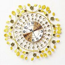 AIZIJI Clock modern einfach elegant Rose Clock Wohnzimmer Schlafzimmer Wand Tisch Quartz Uhren 60 x 60 cm