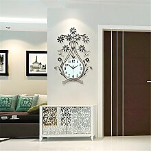 AIZIJI Clock Wall Clock Wohnzimmer modern minimalistisch European Creative Fashion Clock Mute Zimmer Garten Quartz Clock, 26 Zoll
