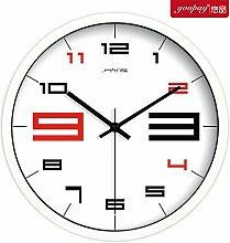 AIZIJI Creative Brief über schwarze und weiße Wohnzimmer groß Uhren moderne mute Home Dekoration im Schlafzimmer, 25 cm Wanduhr