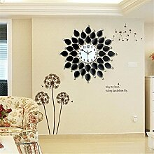 AIZIJI Europäische Clock Living Zimmer Clock modern minimalistisch Dekoration Clock Mute Mode Quartz Uhren, 60 cm