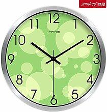 AIZIJI Frische Blumen Garten Zimmer kreative Uhren von den Schlafzimmern auf mute Wanduhr modern eingerichtet sind, 30 cm Quarzuhr