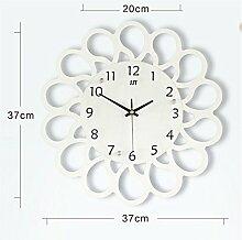 AIZIJI Große moderne Wohnzimmer Wanduhr kreative Kunst Uhr europäischen Stil Pasta Silent Tisch personalisierte Quarzuhr / 37cm