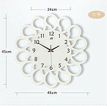 AIZIJI Große moderne Wohnzimmer Wanduhren Kreative Kunst Uhren Europäische Pastoral Stille Uhr Tisch Persönlichkeit Quarzuhr / 45cm