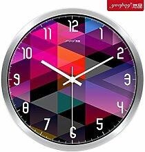AIZIJI Kreative beeindruckende große Uhren moderne mute Home Decoration hängender Tisch Schlafzimmer Wohnzimmer Wanduhr, 25 cm