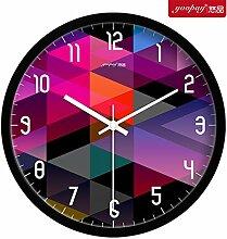 AIZIJI Kreative beeindruckende große Uhren moderne mute Home Decoration hängender Tisch Schlafzimmer Wohnzimmer Wanduhr, 30 cm