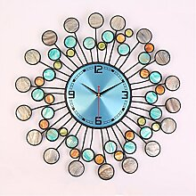 AIZIJI Kreatives Wohnzimmer Wanduhr Mode Dekoration pastorale Schlafzimmer stumm elektronische Kunst hängende Uhr Uhr Tisch / 68cm