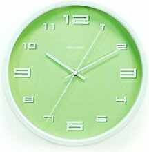 AIZIJI Metall Wand Clock Zylinder Mauer Uhr Restaurant Schlafzimmer Mauer Dekoration Uhr 30 cm