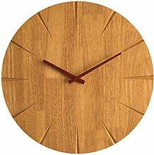 AIZIJI Minimalistischen modernen Holz kreative Wanduhr grosses Wohnzimmer Persönlichkeit Echtholz Uhren ultra-ruhiges Schlafzimmer Garten Wanduhr, 29 cm