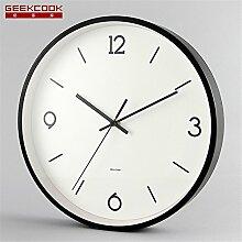 AIZIJI modern Simple Metal Wall Clock Tisch Living Zimmer Clock Schlafzimmer stumm Wand 30 cm