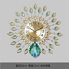 AIZIJI Pfau Wanduhren Wohnzimmer Uhren Wallpapers Silent Uhren Uhren / 60cm