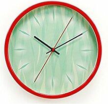 AIZIJI Silent Metal Wall Clock Wohnzimmer Restaurant Zimmer Mauer Dekoration Clock 30 cm