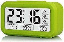 AIZIJI Smart Clock faul Person Sleepy klein Wecker Tisch helles Licht modern kreativ elektronisch Uhren