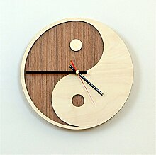 AIZIJI Wall Clock Fashion Creative hölzern Dekoration Uhr Silence Big Wall, 30 cm