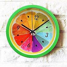 AIZIJI Wall Clock frisch frühling garten gelbes getränk kreativ Living Zimmer Schlafraum Quartz 30 cm