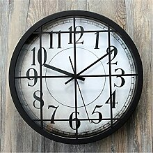 AIZIJI Wall Clock Industrie Retro kreativ Digital Living Zimmer Bar Dekoration Clock, 30 cm