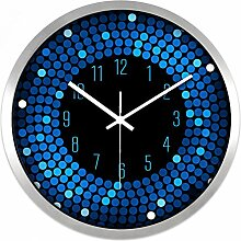 AIZIJI Wall Clock Restaurant Bar Living Zimmer Creative modern Fashion Silent Clock hell Farbe Clock, 35 cm