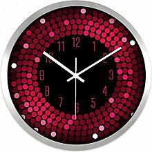 AIZIJI Wall Clock Restaurant Bar Living Zimmer Creative modern Fashion Silent Clock hell Farbe Clock, 30 cm