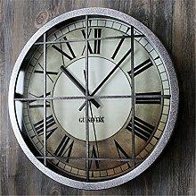 AIZIJI Wand Clock Industrial Wind Nostalgie Mauer Metall kreativ Wohnzimmer Zimmer Bar Dekoration Clock, 30 cm