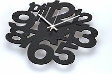 AIZIJI Wanduhr stilvoll kreative Persönlichkeit Wohnzimmer rocking Clock modernen minimalistischen digital art hängen, 35cm Tisch