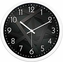 AIZIJI Wolke Wall Clock Living Zimmer Persönlichkeit Quartz Clock Tisch Schlafzimmer Mute hundert Mode Wand, 30 cm