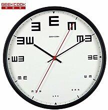 AIZIJI zusehen Liebe, wenn die Metall Mute Wohnzimmer Schlafzimmer Modern Design cool Clock Kinder Zimmer Wall Clock Tisch 30 cm