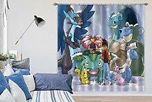 AJ Tapete 3D Vorhang für Pokemon Pikachu 221