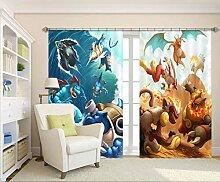 AJ Wallaper 3D-Vorhang für Pokemon Pikachu 309