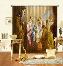 AJ WALLPAPER 3D-Fotovorhang, religiöses Gemälde,