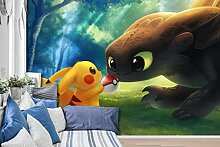 AJ WALLPAPER 3D Murals for Pokemon Pikachu 687