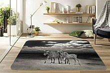 AJ WALLPAPER 3D Schwarzweiss Zebra 7112 Tier