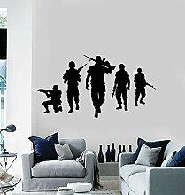 Ajcwhml Fünf Soldaten Vinyl Wand Applique