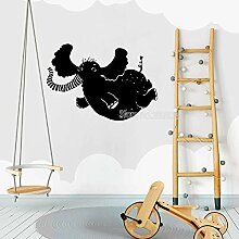 Ajcwhml Kinderzimmer Elefant Wandaufkleber Vinyl
