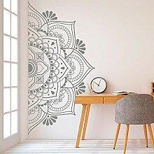 Ajcwhml Mandala an der Wand Hälfte Wandaufkleber