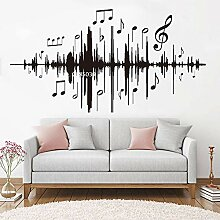 Ajcwhml Musik Audio Noten Wandtattoos