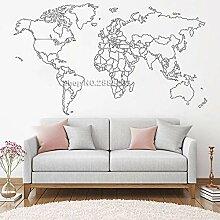 Ajcwhml Weltkarte wandaufkleber Schlafzimmer
