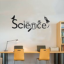 Ajcwhml Wissenschaft Logo wandaufkleber Vinyl