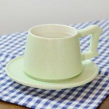 AJUNR-Feine Mode Ein Paar Tassen Elegante Home Single Lahua Heimtextilien Keramik Tasse Kaffee Tasse Pink Green