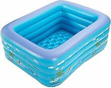 AJZGF Aufblasbarer Baby-Pool, Familie Große Kinder Baby-Spielplatz Erwachsene Badewanne Badewanne (Farbe : Blau)