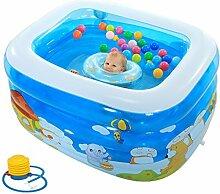 AJZGF Aufblasbarer Pool für Kinder Grüne PVC-Badewanne Badewanne ( Farbe : Foot pump )