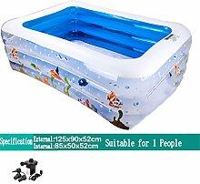 AJZGF Aufblasbares Bad / Schwimmbad Pool für Kinder / Baby / Heim Fußball / Pool für Elektro-Pool für 1 Person (125 * 90 * 52 cm) Badewanne ( Farbe : Electric Pump )