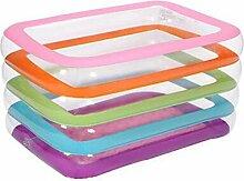 AJZGF Bunter aufblasbarer Pool der Kinder bunter aufblasbarer Pool dicker zusammenklappbarer Ozeanballpool-Poolwasserspielplatz Badewanne