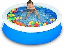 AJZGF Familien-Swimmingpool-Baby-aufblasbares Swimmingpool-Ozean-Ball-Pool-Spiel-Pool-Badewanne nehmen ein Bad-Geschenk 150 * 40cm Blau Badewanne