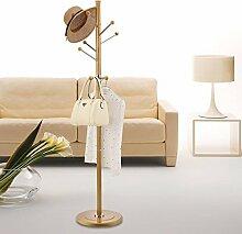 AJZGF,Garderobe Coat Stand Rack Edelstahl einfache Montage Kleiderbügel Landung kreative Racks Hutstand ( Farbe : Gold , größe : B )