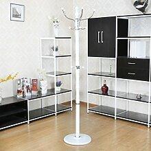 AJZGF Garderobe Garderobenständer Eisen Einfache Montage Kleiderbügel Landung Kreative Racks Hutstand (Farbe : C)