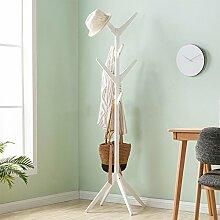 AJZGF,Garderobe Kleiderständer Massivholz einfache Boden Aufhänger Büro Wohnzimmer Schlafzimmer moderne einfache Baum Kleiderständer Hutstand