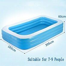 AJZGF Große aufblasbare Badewanne / Swimmingpool Kind / Kind / Erwachsener / Familie Meerwasserball Geeignet für 7-9 Personen (305 * 183 * 60cm) Badewanne