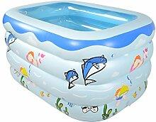 AJZGF Kind-aufblasbare Badewanne aufblasbarer aufblasbarer Pool-dickerer thermischer Pool zusammenklappbarer Ozean-Pool-Pool-Wasser-Spielplatz Badewanne