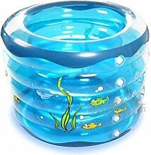 AJZGF Kinder Runde Blaue aufblasbare Badewanne