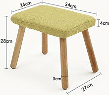 AJZGF Kleiner Hocker, Stuhl aus massivem Holz,